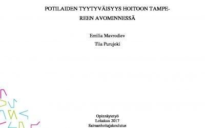 Tampereen Avominnen hoidon tuloksellisuutta ja laatua tutkittu vuosilta 2005-2017. Avominnen hoitometodiikka tuottaa tulosta. Tutustu tutkimukseen: